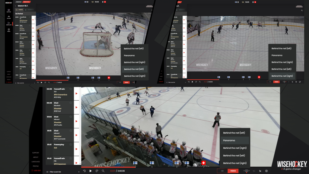 Game from different camera angles in Wiseplayer
